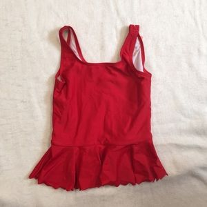 Girls Hanna Andersson Red Tunic swim top